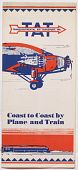 view Transcontinental Air Transport (TAT) and Maddux Air Lines Brochures and Schedules digital asset: Transcontinental Air Transport (TAT) and Maddux Air Lines Brochures and Schedules