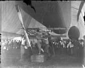 view Baldwin - Army Signal Corps No. 1 (SC-1) Airship Trials - First Engine Tests in Hangar - Photographs digital asset: Baldwin - Army Signal Corps No. 1 (SC-1) Airship Trials - First Engine Tests in Hangar - Photographs