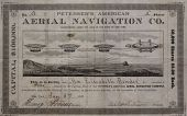 view Petersen's American Aerial Navigation Company Circular, Stationery, and Stock Certificate digital asset: Petersen's American Aerial Navigation Company Circular, Stationery, and Stock Certificate