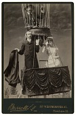 view Untitled. Marriage in a balloon. Aeronaut, James Allen, with bride and groom at State Fair Grounds, Providence, Rhode Island digital asset: Untitled. Marriage in a balloon. Aeronaut, James Allen, with bride and groom at State Fair Grounds, Providence, Rhode Island