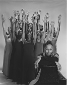 """view """"Revelations"""": Judith Jamison poses with Company digital asset: """"Revelations"""": Judith Jamison poses with Company"""
