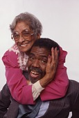view #1381- 1398: Portrait of Alvin Ailey with Mother, Lula Cooper digital asset: #1381- 1398: Portrait of Alvin Ailey with Mother, Lula Cooper