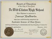 view DeWitt Clinton High School Diploma digital asset: DeWitt Clinton High School Diploma