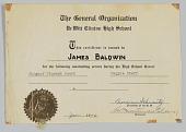 view Award Certificate from DeWitt Clinton High School digital asset: Award Certificate from DeWitt Clinton High School