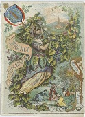 view France Violets and England Rose [trade card] digital asset: France Violets and England Rose [trade card]