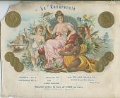 view La Reverencia [lithograph, cigar label] digital asset: La Reverencia [lithograph, cigar label]
