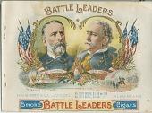 view Smoke Battle Leaders Cigars [cigar box label: lithograph] digital asset: Smoke Battle Leaders Cigars [cigar box label: lithograph]