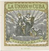 view La Union De Cuba / Vuelta Abajo [cigar box label : lithograph] digital asset: La Union De Cuba / Vuelta Abajo [cigar box label : lithograph]
