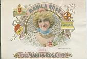 view Manila Rose [cigar box label, lithograph] digital asset: Manila Rose [cigar box label, lithograph]