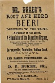 view Dr. Buker's / Root and Herb / Beer! [sic] [Advertising flier.] digital asset: Dr. Buker's / Root and Herb / Beer! [sic] [Advertising flier.]