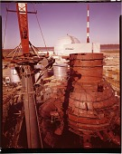 view Nuclear reactor under construction by G.E. Co. for Jersey Central Power and Light Co., Oyster Creek, N.J., digital asset: Nuclear reactor under construction by G.E. Co. for Jersey Central Power and Light Co., Oyster Creek, N.J.,