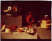 view [Still Life with Donuts : photographic copy of painting?] digital asset: [Still Life with Donuts : photographic copy of painting?]