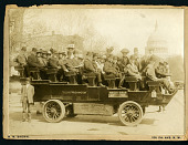 view Archives Center Photoprint Collection digital asset: Sightseeing bus with 27 passengers and driver, Washington, D.C. : silver albumen photoprint
