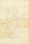 view Correspondence and Drawings: Miss Sonne Reese, 1942 Please see the Costume Division for bra sample that was included in this file digital asset: Correspondence and Drawings: Miss Sonne Reese, 1942 Please see the Costume Division for bra sample that was included in this file