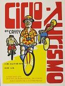 view Ciclo-Turismo en Cayey [screenprint poster] digital asset: Ciclo Turismo en Cayey