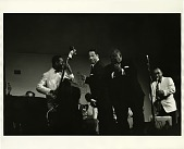 view William Claxton Photographs digital asset: Duke Ellington and Jimmy Rushing; on stage, Las Vegas, Nevada, 1955.