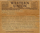 view [Western Union telegram from Irwin Geiger to Dr. Joseph Friedman with message that dealers are not interested in the flexible straw: telegram,] digital asset: [Western Union telegram from Irwin Geiger to Dr. Joseph Friedman with message that dealers are not interested in the flexible straw: telegram,]