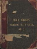 view [E. Howard Clock Orders Ledger Volume 7, book.] digital asset: Volume 7 (Addendum)