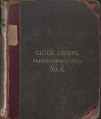 view [E. Howard Clock Orders Ledger Volume 8, book.] digital asset: Clock Orders