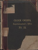 view [E. Howard Clock Orders Ledger Volume 13, book.] digital asset: Volume 13