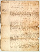view Suit for a runaway slave, Berkeley County, Carolina colony digital asset: Suit for a runaway slave, Berkeley County, Carolina colony