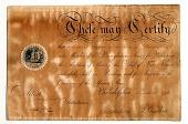 view Certificate, abolition society, Philadelphia, Pennsylvania digital asset: Certificate, abolition society, Philadelphia, Pennsylvania