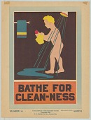 view 28, Bathe for Clean-ness, by Bess Eleanor Foster.  March 			3 digital asset: 28, Bathe for Clean-ness, by Bess Eleanor Foster.  March		3
