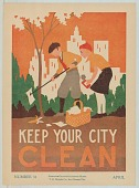 view 31, Keep Your City Clean, by H. M. Cantrall, Springfield, IL.  April digital asset: 31, Keep Your City Clean, by H. M. Cantrall, Springfield, IL.  April