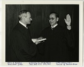 view William M. Marutani Papers digital asset: Photographs of Swearing-in 1975