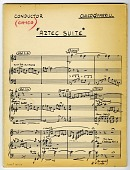 view Chico O'Farrill Papers digital asset: Aztec Suite, original score for orchestra, various parts
