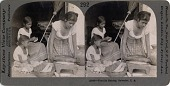 view Division of Cultural History Lantern Slides and Stereographs digital asset: 292, Making tortillas, Salvador