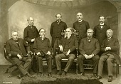 view Portrait of Isthmian Canal Commission Members, George S. Morison in front row at left digital asset: Portrait of Isthmian Canal Commission Members, George S. Morison in front row at left