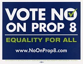"""view """"No on Prop 8"""" (California) advertising cards and bumper stickers digital asset: """"No on Prop 8"""" (California) advertising cards and bumper stickers"""