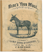 "view Here's Your Mule [sheet music] digital asset: ""Here's Your Mule"" [Black and White]"