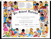 view Matthew Shepard Papers digital asset: Pre-School Diploma (Shepard, Matt)