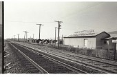 view 2004.0138.36.05, Railroad tracks pass through the town of Gonzales, California. digital asset: 2004.0138.36.05, Railroad tracks pass through the town of Gonzales, California.
