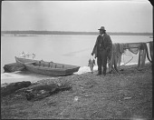 view Chief George M. Cook by the Pamunkey River digital asset: Chief George M. Cook by the Pamunkey River