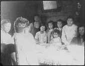 view Bradby Family (Possiblle) Portrait at Mealtime digital asset: Bradby Family (Possiblle) Portrait at Mealtime