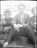 view Portrait of Four Innu [Uashat-Maliotenam (Seven Islands)] Boys digital asset: Portrait of Four Innu [Uashat-Maliotenam (Seven Islands)] Boys
