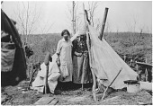 view Portrait of Two Innu [Kiskissink] Women at Campsite digital asset: Portrait of Two Innu [Kiskissink] Women at Campsite