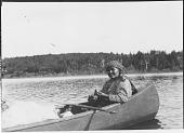 view Portrait of Pinomen Rat (Philomen Ratt) in a Canoe digital asset: Portrait of Pinomen Rat (Philomen Ratt) in a Canoe