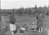 view Portrait of Two Algonquin Women with Children digital asset: Portrait of Two Algonquin Women with Children