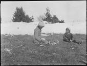 view Mistassini Cree Boys Playing a Rabbit Hunting Game digital asset: Mistassini Cree Boys Playing a Rabbit Hunting Game