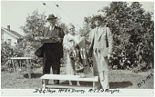 view George Heye with Clarissa Draney and T.P.O Menzies digital asset: George Heye with Clarissa Draney and T.P.O Menzies