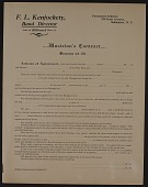 view F.L. Kenjockety, Band Director, Musician's Contract digital asset: F.L. Kenjockety, Band Director, Musician's Contract