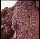 view Newpaper Rock (Bishop), California: Petroglyphs digital asset: Newpaper Rock (Bishop), California: Petroglyphs