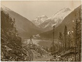 view Railroad between Skagway and White Pass digital asset: Railroad between Skagway and White Pass