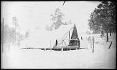 view Church tent in snowstorm digital asset: Church tent in snowstorm