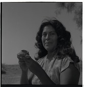 view Helga Teiwes photograph collection digital asset: Pat Stone with Incense Burner