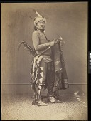 view Ihanktonwan Nakota delegate, Washington, D.C. digital asset: [P10147] Ihanktonwan Nakota (Yankton Sioux) delegate Si-ha-han-ska (Long Foot)